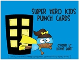 Super Hero Kids Punch Cards