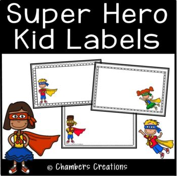 Super Hero Kids Themed Classroom Labels!