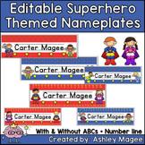 Super Hero Kids Themed Nameplate/Deskplate/Nametags
