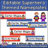 Super Hero Kids Themed Nameplate/Deskplate/Nametags