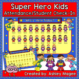 Super Hero Kids Themed Interactive Attendance/Check-In (Po
