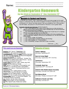 Homework Cover SUPERHERO Editable Template
