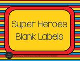 Super Hero Labels