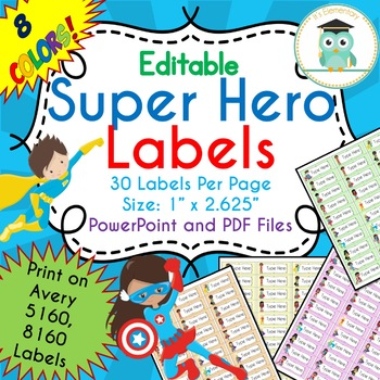 Editable Avery Labels 5160 Worksheets & Teaching Resources | TpT