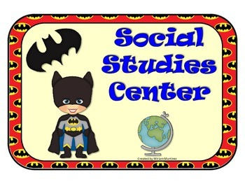 Super Hero Learning Center Signs.