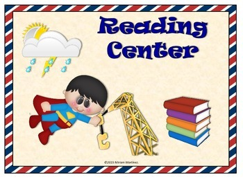 Super Hero Learning Center Signs - Different Heroes