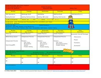 Super Hero Lesson Plan Template- CCSS aligned