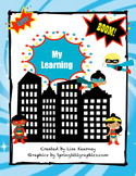 Super Hero Literacy Data Notebook Assessments