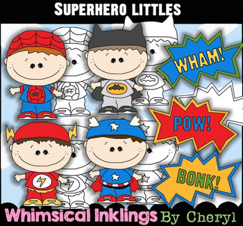 Super Hero Littles Clipart Collection