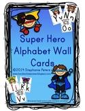 Super Hero Manuscript Alphabet Line ~ Color/Black and White