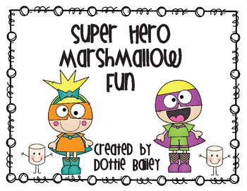 Super Hero Marshmallow Activity Book