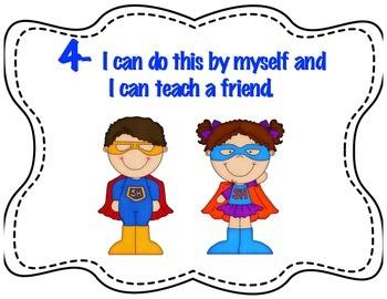 Super Hero Marzano learning scales