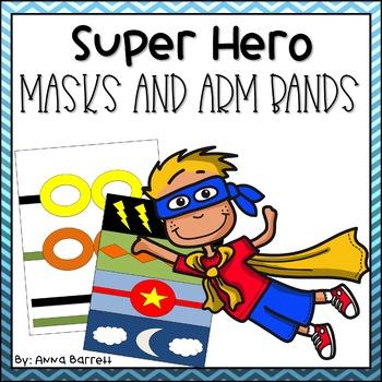 Super Hero Masks and Arm Bands
