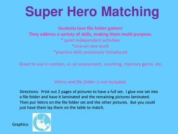 Super Hero Matching