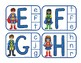 Super Hero - Matching Upper & lowercase letters: Independent Practice ClipCards