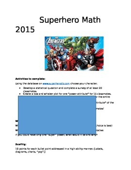 Super Hero Math 6th-7th
