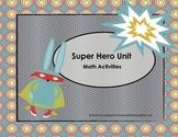 Super Hero Math Activities