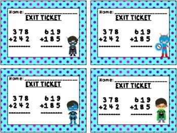 Super Hero Math: Adding Three Digit Numbers