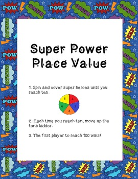 Super Hero Math Center