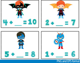 Super Hero Math Clip Art school mathematics Multiplication count teachers -116-