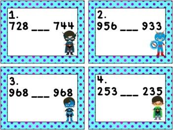 Super Hero Math: Comparing Numbers