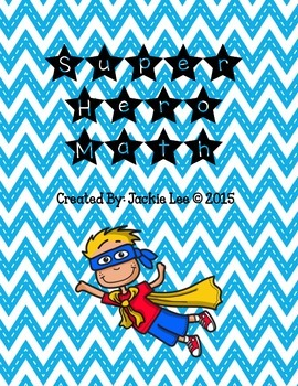 Super Hero Math Equation Sort