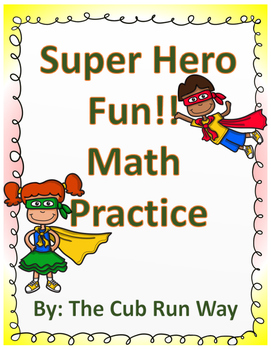 Super Hero Math Fun-Addition and Subtraction Practice!