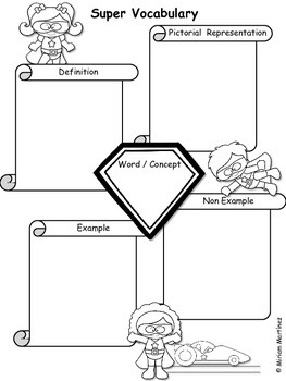 Super Hero Math Graphic Organizers