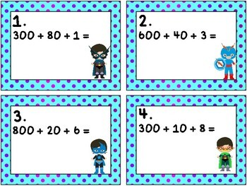 Super Hero Math: Numbers in Expanded Form