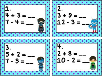 Super Hero Math: Relating Addition and Subtraction