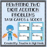 Super Hero Math: Rewrite Two Digit Addition Problems