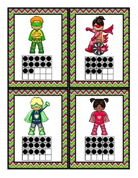 Super Hero Math: Numerals, Ten Frames Counting