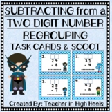 Super Hero Math: Subtracting From a Two-Digit Number with Regrouping
