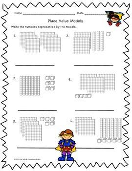 Superhero Math Worksheet Pack {1st & 2nd Grade}