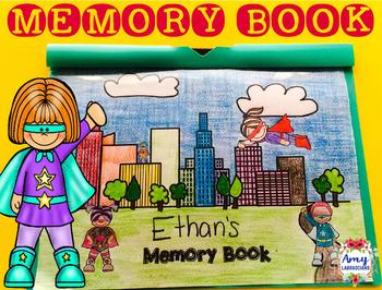 Memory Book Superhero Theme