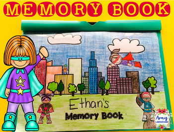 Memory Book Superhero Theme