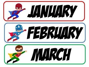 Super Hero Months