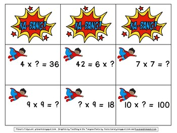 Super Hero Multiplication FREEBIE
