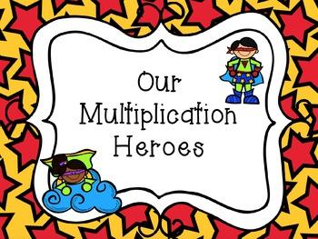 Super Hero Multiplication Flash Cards & Certificates