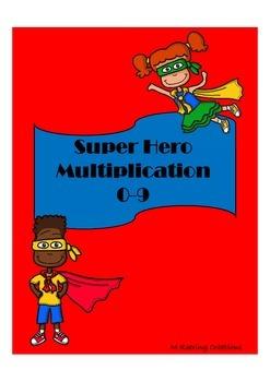 Super Hero Multiplication Packet 0-9