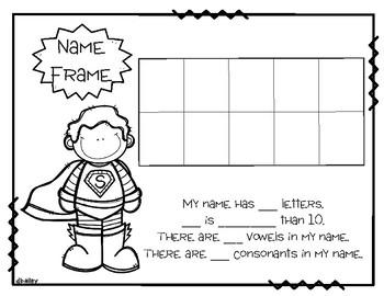 Super Hero Name Frame