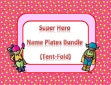 Super Hero Desk Name Tags Bundle