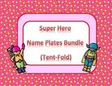 Super Hero Desk Name Tags Bundle
