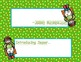 Super Hero Desk Name Tags -- Male Heroes on Green Background