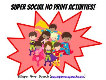 Super Social Skills No Print Activities