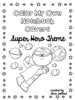 Super Hero Notebook Covers