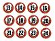 """Super Hero Number Circles (Red, 2"""")"""