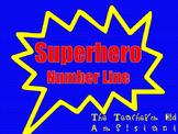 Super Hero Number Line 0-20
