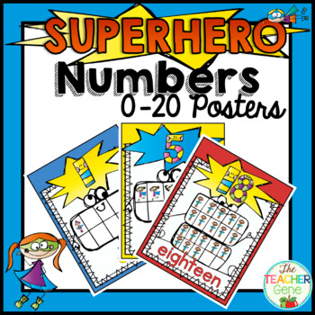 Super Hero Number Posters {0-20}