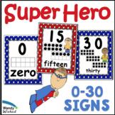 Super Hero Numbers Classroom Decor